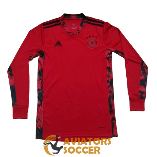 goalkeeper long sleeve germany shirt jersey red 2020 2021