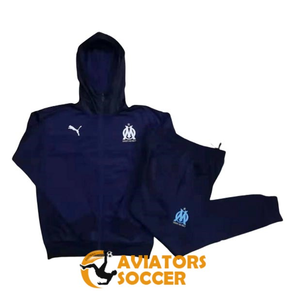hooded marseille jacket dark blue 2019 2020