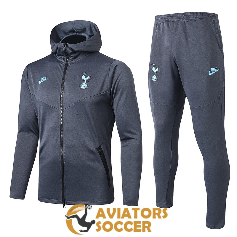 hooded tottenham hotspur jacket gray 2019 2020