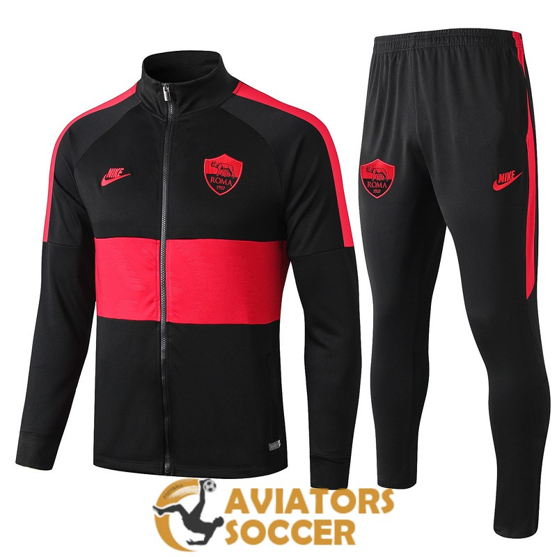 jacket as roma black red 2019 2020