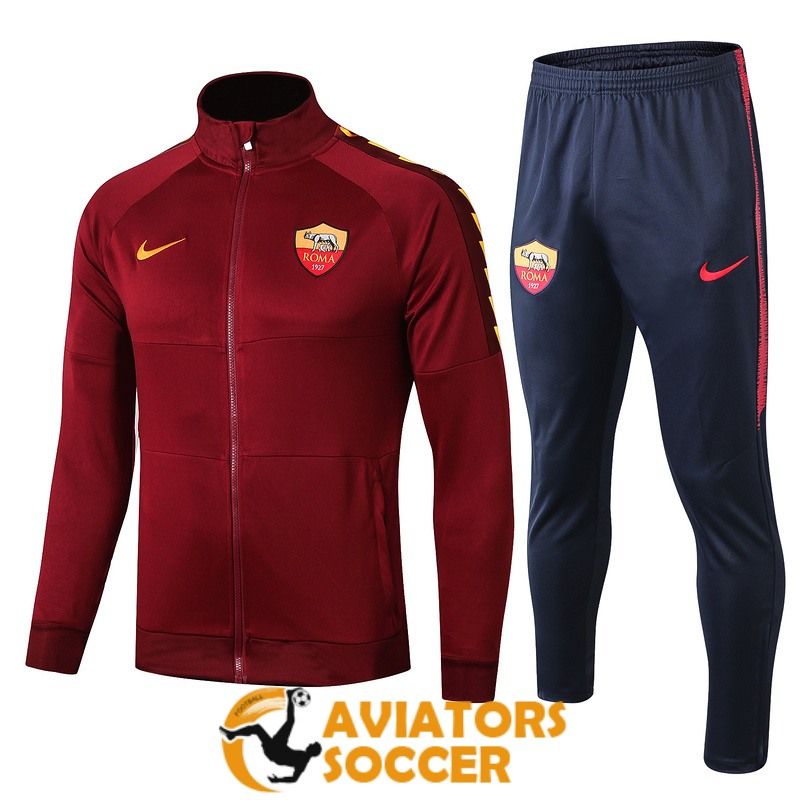jacket as roma red 2019 2020