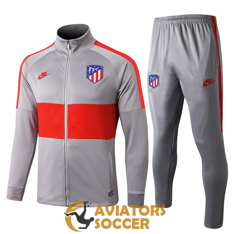 jacket atletico madrid light gray red 2019 2020