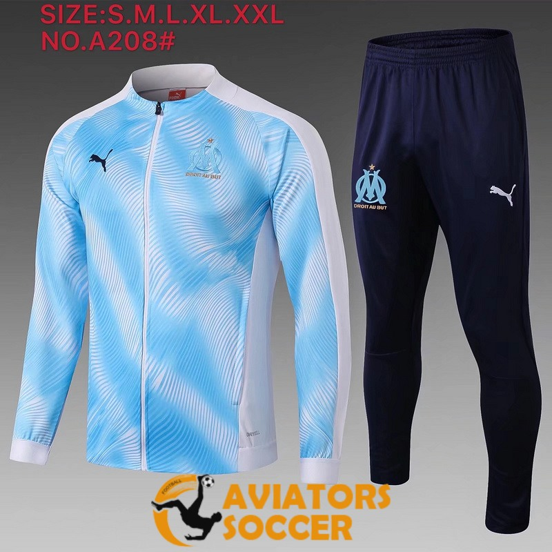 jacket marseille blue white 2019 2020