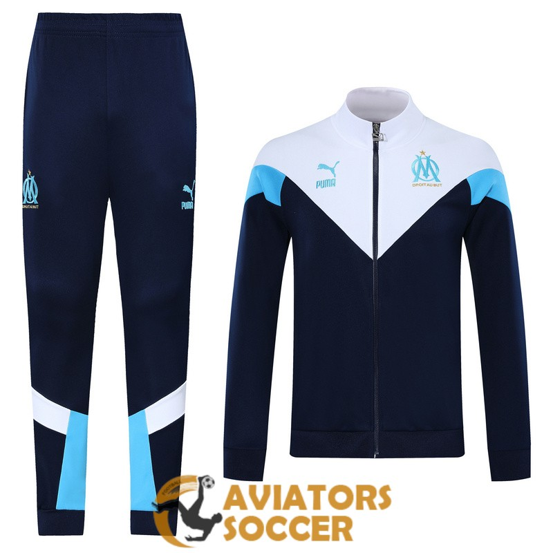 jacket marseille dark blue white 2019 2020