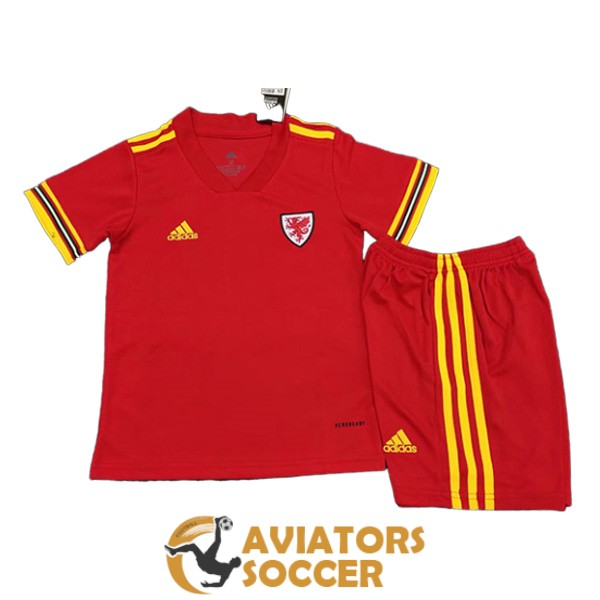 kid wales shirt jersey home 2020