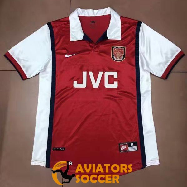 retro arsenal shirt jersey home 1998