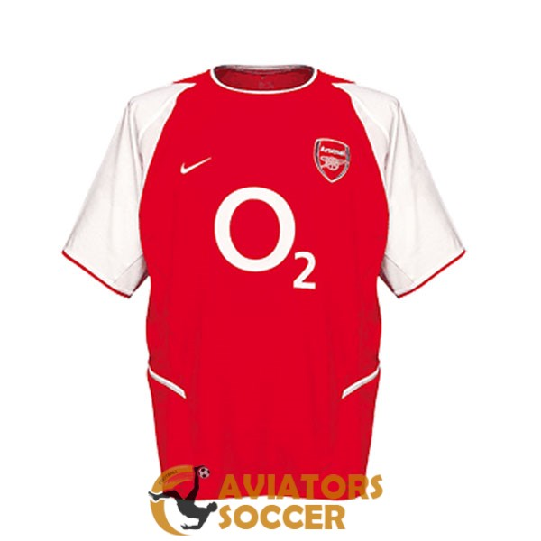 retro arsenal shirt jersey home 2002 2003