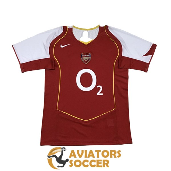retro arsenal shirt jersey home 2004 2005