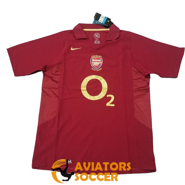 retro arsenal shirt jersey home 2005 2006