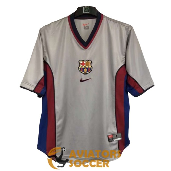 retro barcelona shirt jersey away 2000 2001