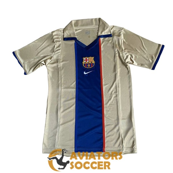 retro barcelona shirt jersey away 2001 2003