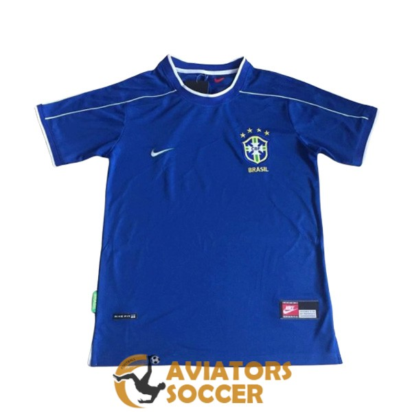 retro brazil shirt jersey away 1998