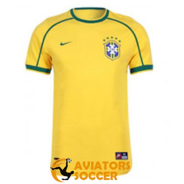 retro brazil shirt jersey home 1998