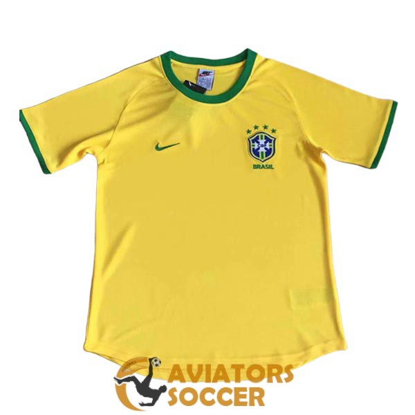 retro brazil shirt jersey home 2000