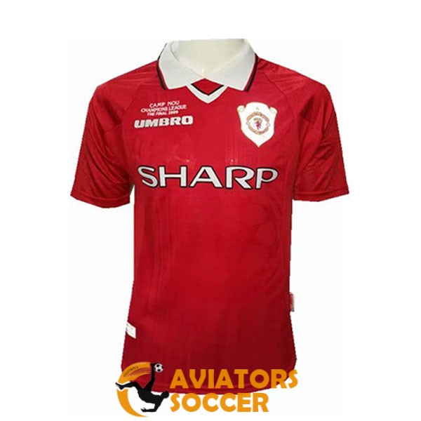retro champions manchester united shirt jersey red 1999 2000