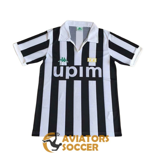 retro juventus shirt jersey home 1991