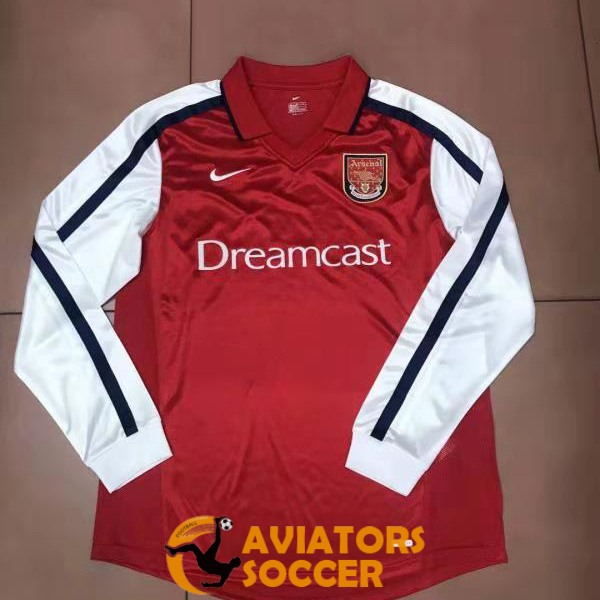 retro long sleeve arsenal shirt jersey home 2000