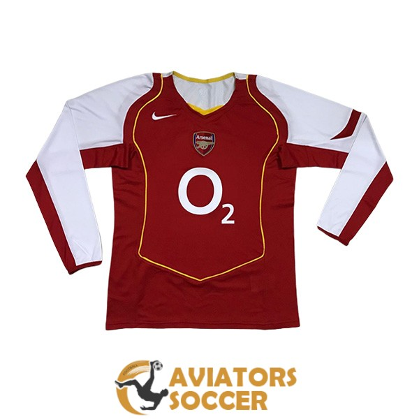 retro long sleeve arsenal shirt jersey home 2004 2005