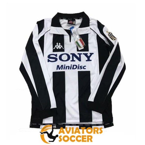retro long sleeve juventus shirt jersey home 1998
