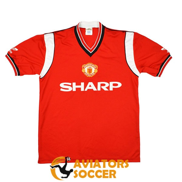 retro manchester united shirt jersey home 1984 1986