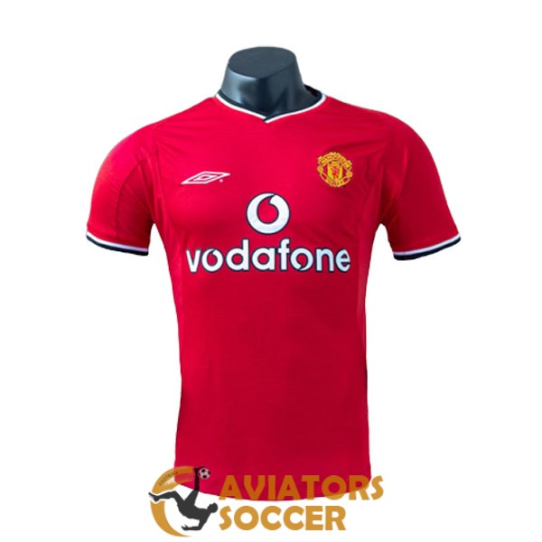 retro manchester united shirt jersey home 2000 2001