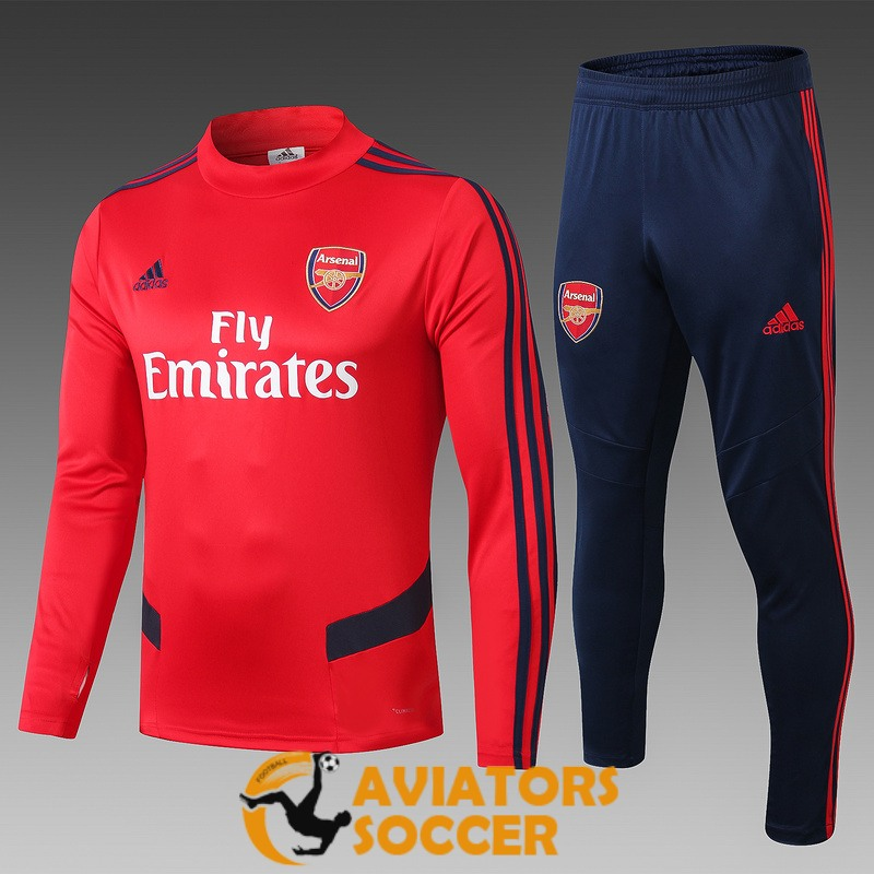 tracksuit arsenal 2019 2020 red high collar