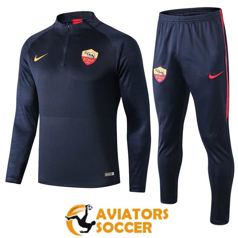tracksuit as roma 2019 2020 dark blue zipper