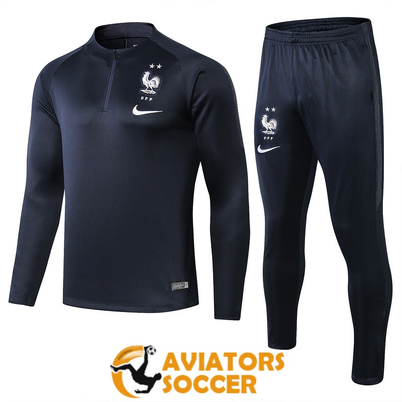 tracksuit france 2019 2020 dark blue zipper