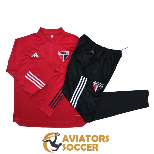 tracksuit sao paulo 2020 2021 red zipper
