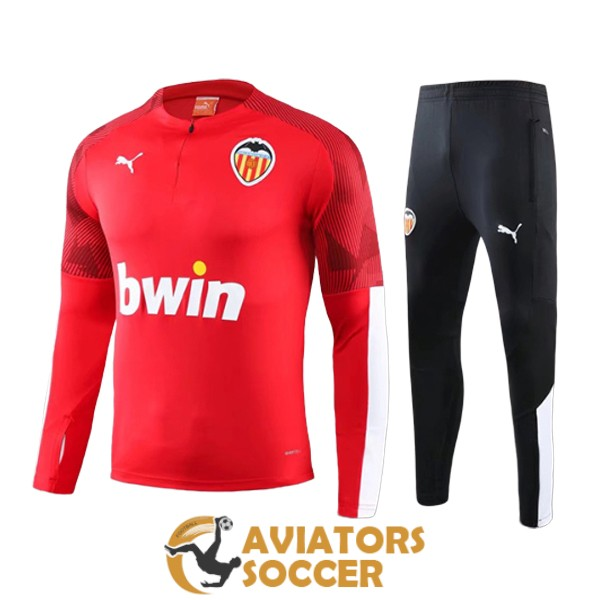 tracksuit valencia 2020 2021 red zipper