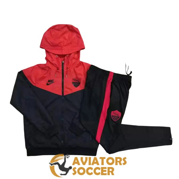 windbreaker as roma black red 2019 2020
