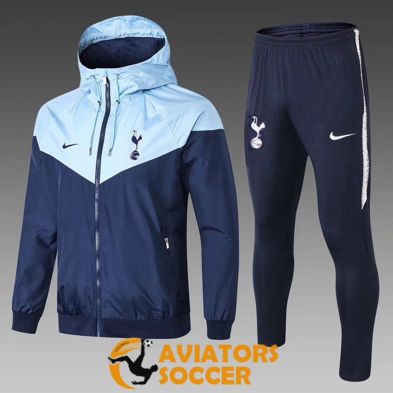 windbreaker tottenham hotspur dark blue light blue 2018 2019